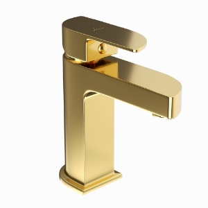Picture of Single Lever Basin Mixer-Full Gold