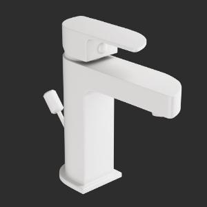 Picture of Single Lever Basin Mixer -White Matt