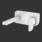 Picture of Exposed Part Kit of Single Lever Basin Mixer Wall Mounted - White Matt
