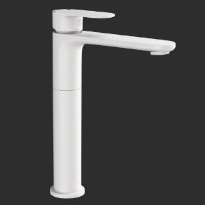 Picture of Single Lever High Neck Basin Mixer - White Matt