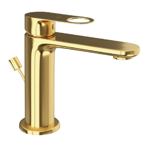 Picture of Single Lever Basin Mixer with Popup - Full Gold