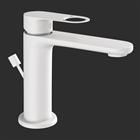 Picture of Single Lever Basin Mixer with Popup -White Matt