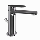 Picture of Single Lever Basin Mixer with Popup Waste -Black Chrome