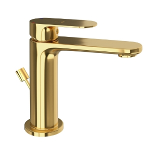 Picture of Single Lever Basin Mixer with Popup Waste -Full Gold