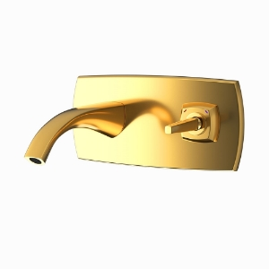 Picture of Exposed Part Kit of Joystick Basin Mixer Wall Mounted - Full Gold