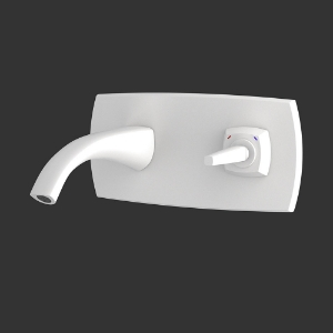 Picture of Exposed Part Kit of Joystick Basin Mixer Wall Mounted - White Matt