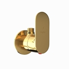 Picture of Angle Valve with Wall Flange - Full Gold