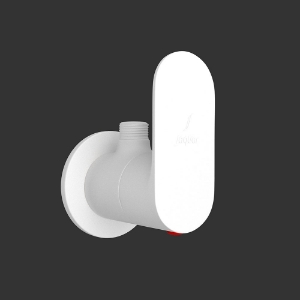 Picture of Angle Valve with Wall Flange - White Matt