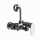 Picture of Single Lever Wall Mixer 3-in-1 System - Black Chrome