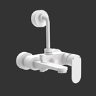 Picture of Single Lever Wall Mixer 3-in-1 System - White Matt