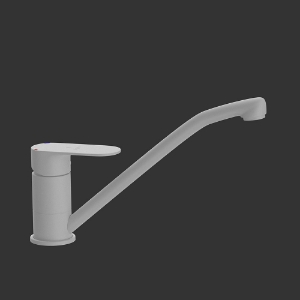 Picture of Single Lever Sink Mixer with Swinging Spout - White Matt