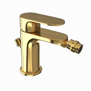 Picture of Single Lever Bidet Mixer with Popup Waste - Full Gold