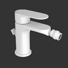 Picture of Single Lever Bidet Mixer with Popup Waste - White Matt
