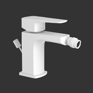 Picture of Single Lever 1-Hole Bidet Mixer with Popup Waste System - White Matt