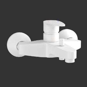 Picture of Single Lever Wall Mixer - White Matt