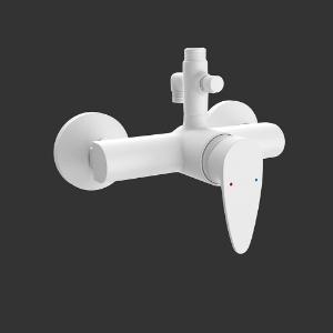 Picture of Single Lever Exposed Shower Mixer - White Matt