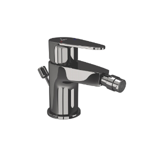 Picture of Single Lever 1 - Hole Bidet Mixer - Black Chrome