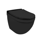 Picture of Rimless, Blind Installation Wall Hung WC - Black Matt