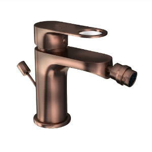 Picture of Single Lever 1-Hole Bidet Mixer with Popup Waste System - Antique Copper