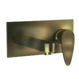 Picture of Exposed Part Kit of Single Lever Basin Mixer Wall Mounted - Antique Bronze