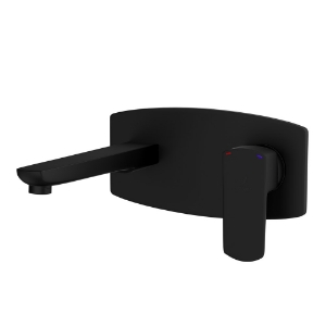Picture of Exposed Part Kit of Single Lever Basin Mixer Wall Mounted - Black Matt
