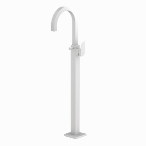 Picture of Exposed Parts of Floor Mounted Single Lever Bath Mixer - White Matt