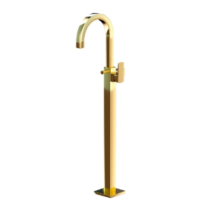 Picture of Exposed Parts of Floor Mounted Single Lever Bath Mixer - Full Gold