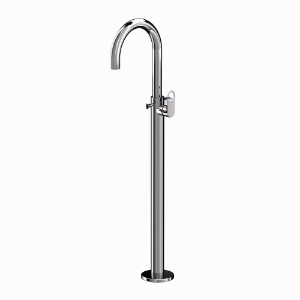 Picture of Exposed Parts of Floor Mounted Single Lever Bath Mixer - Black Chrome