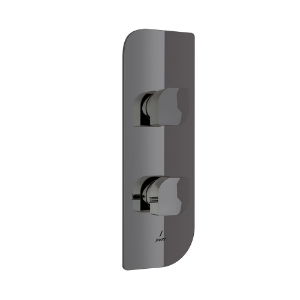 Picture of Aquamax Exposed Part Kit of Thermostatic Shower Mixer - Black Chrome