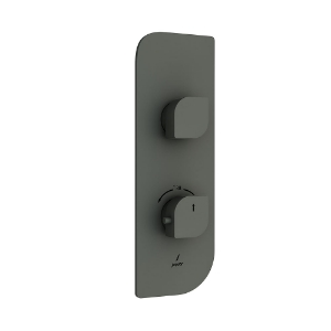 Picture of Aquamax Exposed Part Kit of Thermostatic Shower Mixer - Graphite