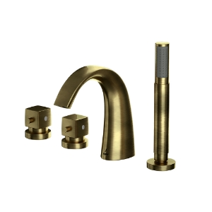 Picture of Thermostatic Bath and Shower Mixer - Antique Bronze