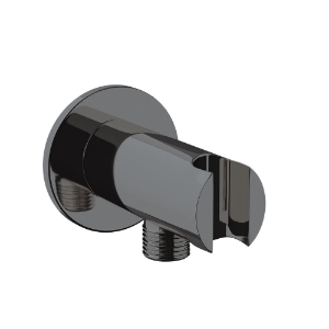Picture of Wall Outlet with Shower Hook - Black Chrome