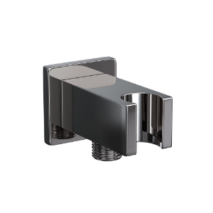 Picture of Wall Qutlet with Shower Hook - Black Chrome