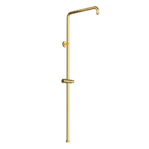 Picture of Exposed Shower Pipe with Hand Shower Holder - Full Gold