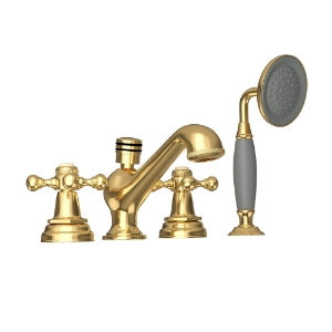 Picture of 4-Hole Bath Tub Mixer - Full Gold